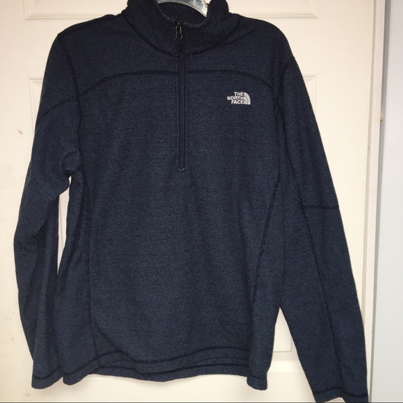 871005ae3 THE NORTH FACE 1/4 ZIP BLUE HEATHER PULLOVER TOP-M
